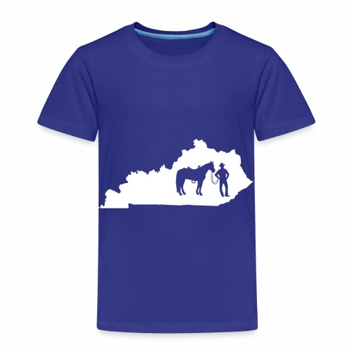 Awesome Kentucky Horse Map Riding Horseback Horse - Kinder Premium T-Shirt