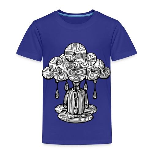 nuage lundi pluie, le lundi c'est nul... - T-shirt Premium Enfant