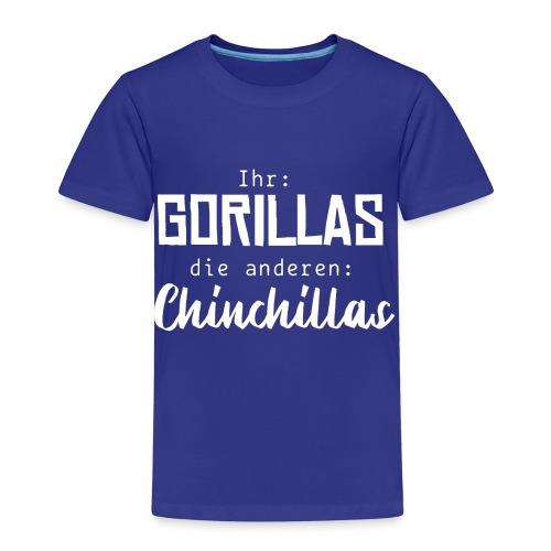 Gorillas vs. Chinchillas - Kinder Premium T-Shirt