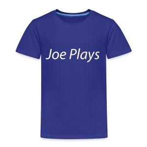 Joe Plays White logo - Premium T-skjorte for barn