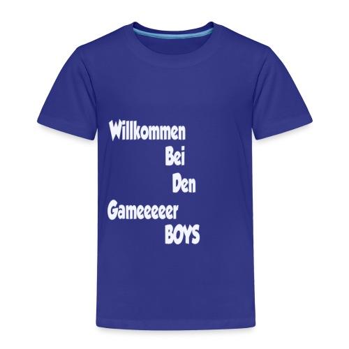 Begruessung Weiß - Kinder Premium T-Shirt