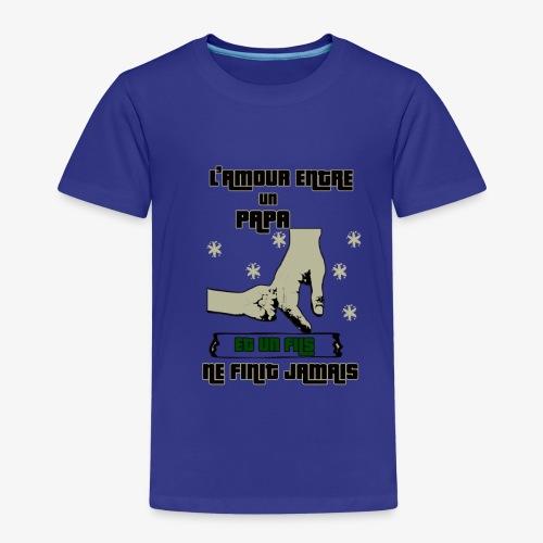 L'amour Entre Papa Et Un fils T-SHIRT - T-shirt Premium Enfant