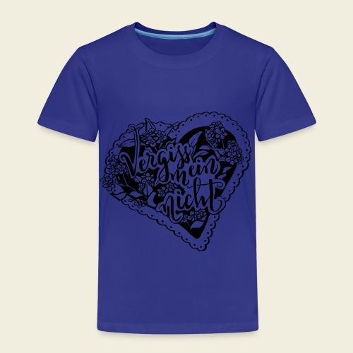 Vergissmeinnicht-Herz - Kinder Premium T-Shirt