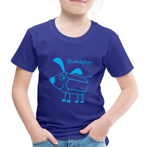 Hundstift Hugo lacht, blau - Kinder Premium T-Shirt