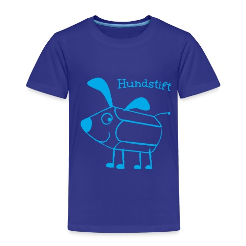 Hundstift Hugo lacht, blau - Kinder Premium T-Shirt