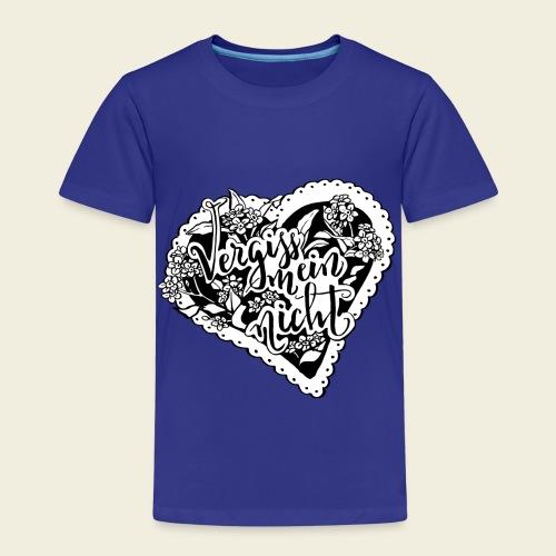Vergissmeinnicht-Herz mit weißem Hintergrund - Kinder Premium T-Shirt