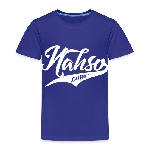 White Nasho.com Design - Kids' Premium T-Shirt