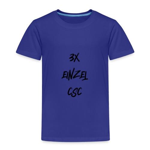 3 mal einzel CSC - Kinder Premium T-Shirt