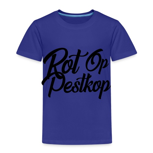 Rot Op Pestkop - Curly Black - Kinderen Premium T-shirt