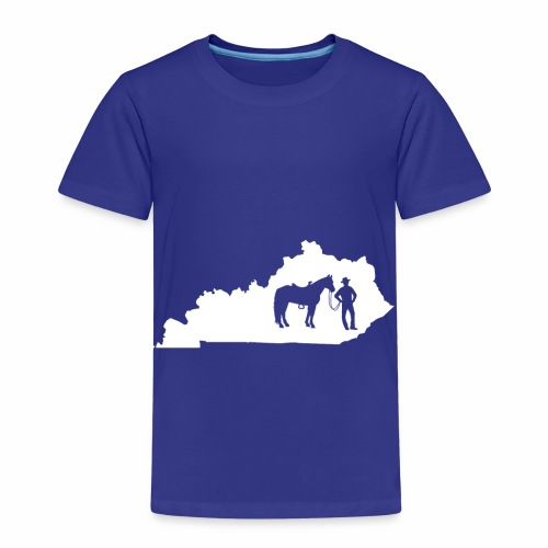 Awesome Kentucky Horse Map Riding Horseback Horse - Kinder Premium T-Shirt