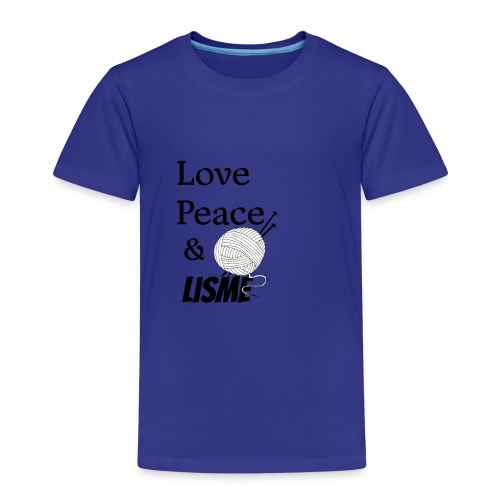 Love Peace & Lisme - Kinder Premium T-Shirt