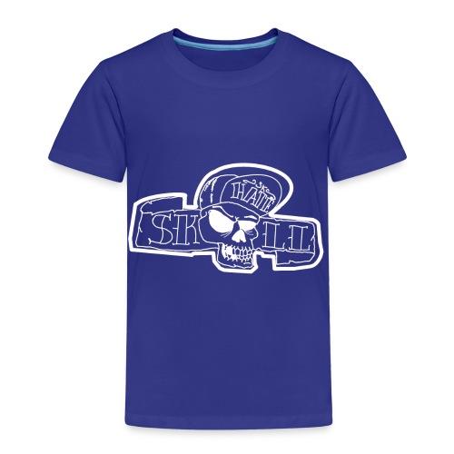 teschio con capellino - Maglietta Premium per bambini