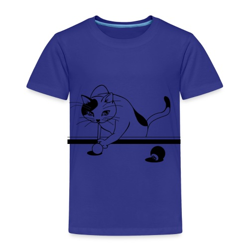 katze billiard - Kinder Premium T-Shirt