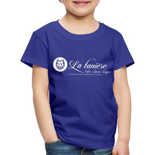 La Tanière des Chiens-Loups (logo plus grand) - T-shirt Premium Enfant