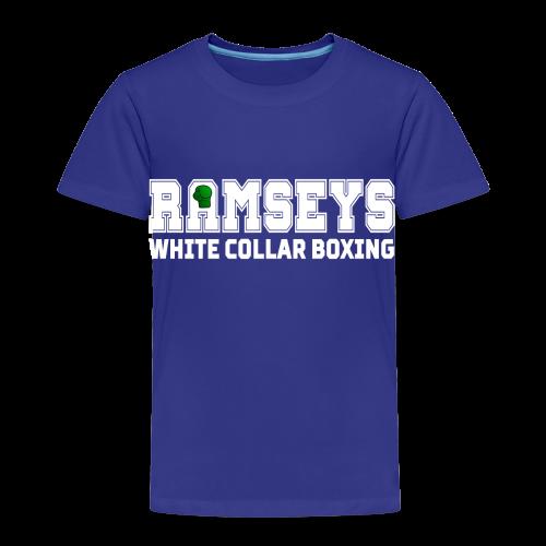 Ramseys White Collar Boxing White Logo - Kids' Premium T-Shirt