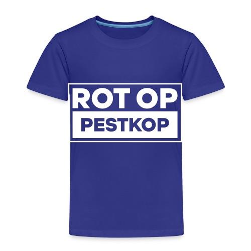 Rot Op Pestkop - Block White - Kinderen Premium T-shirt