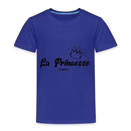 princesse couronne NOIR - T-shirt Premium Enfant