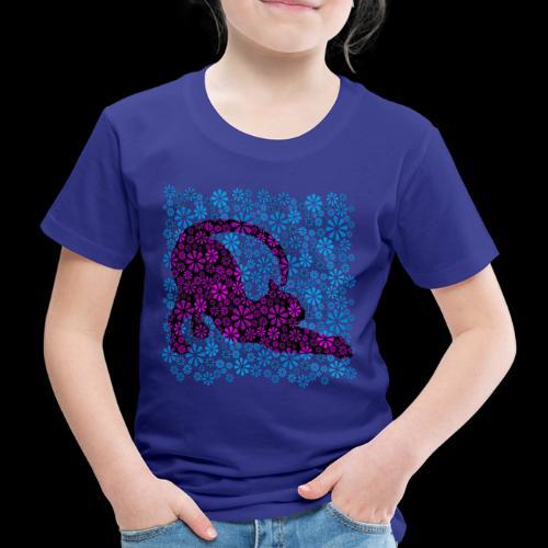 Flower Power Feline - Blue ( petcontest ) - Kids' Premium T-Shirt
