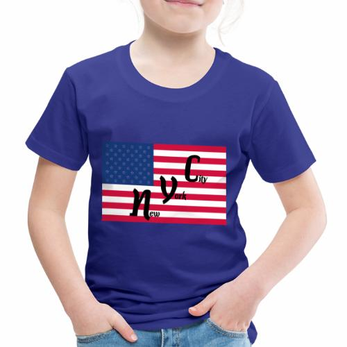 America Flag NYC - Kinder Premium T-Shirt