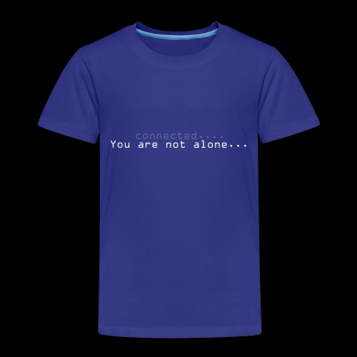 Not alone - Premium T-skjorte for barn