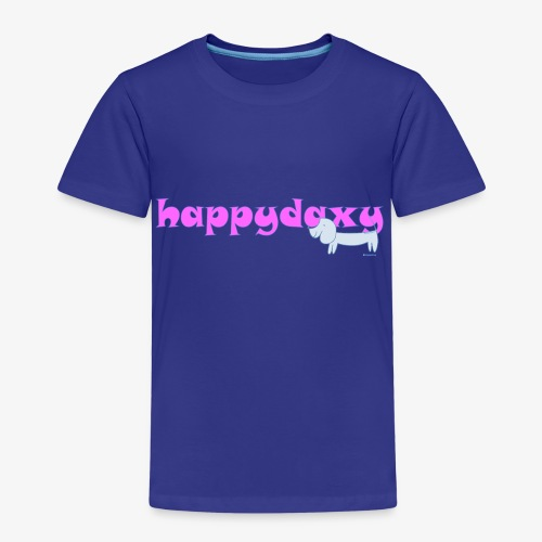 Happy Daxy Pink by Sue Anderson - Kids' Premium T-Shirt