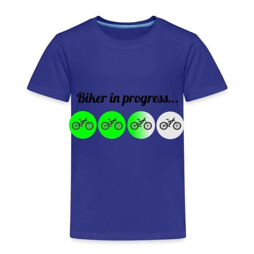 Biker in Progress - Kinder Premium T-Shirt