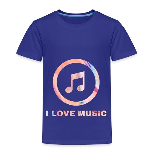 Schlichtes buntes Musik Desgin/Symbol mit Text - Kinder Premium T-Shirt