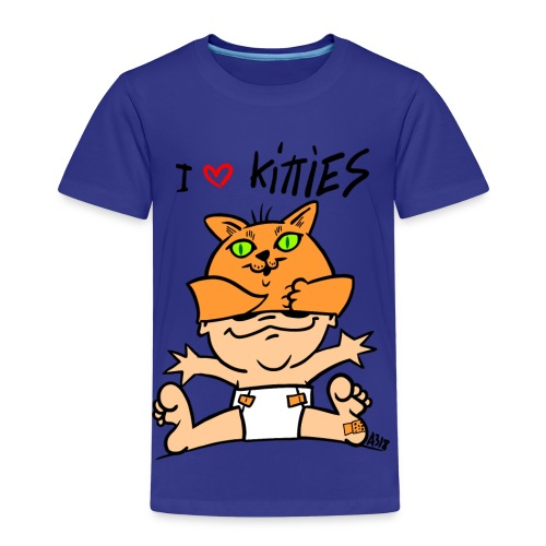baby i love kitties color - Kinderen Premium T-shirt