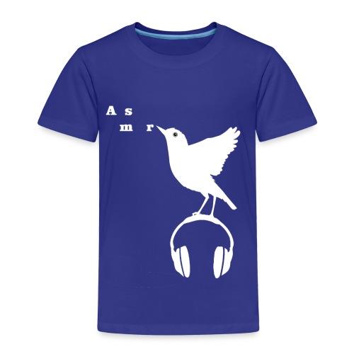 Valkoinen Asmr-lintu ilman tekstiä - Lasten premium t-paita