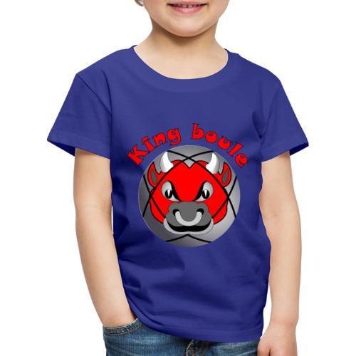 t shirt King boule roi pétanque tireur pointeur - T-shirt Premium Enfant