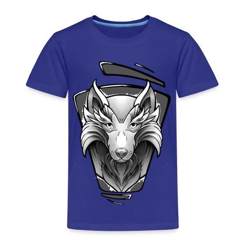 Wolf Tattoo Design - Kinder Premium T-Shirt