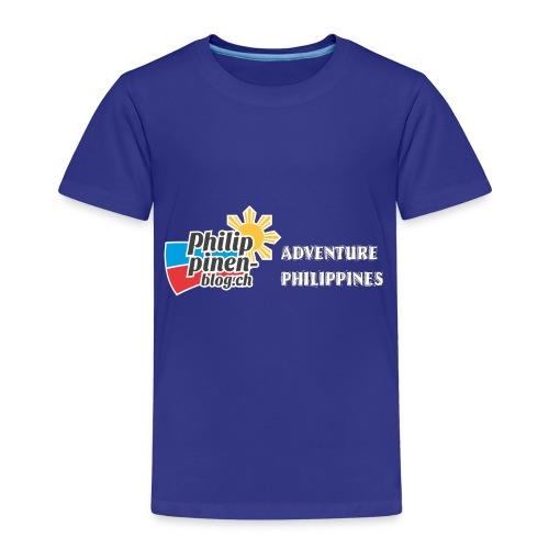 Philippinen-Blog Logo english schwarz/weiss - Kinder Premium T-Shirt