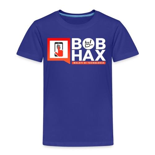LOGO BobHax white - Maglietta Premium per bambini