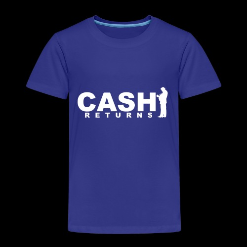 CASH RETURNS LOGO (White) - Kids' Premium T-Shirt