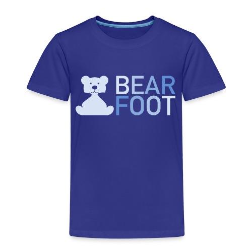 BEAR FOOT fade blue - Kinder Premium T-Shirt