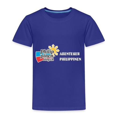 Philippinen-Blog Logo deutsch schwarz/weiss - Kinder Premium T-Shirt