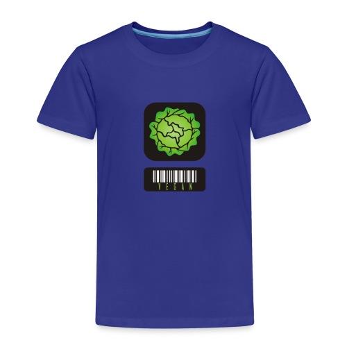 Veganer Barcode - Kinder Premium T-Shirt