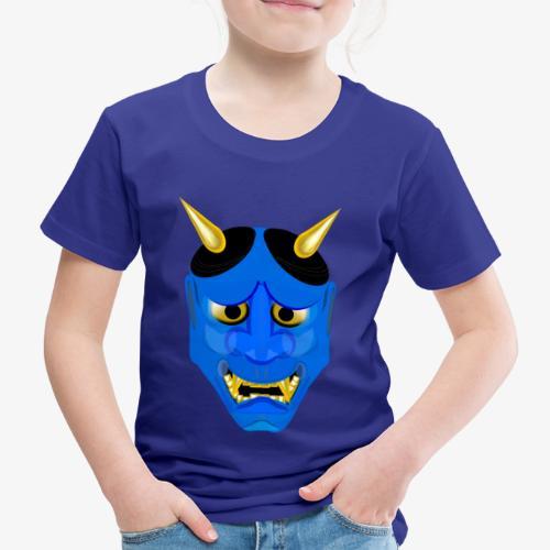 Demon Mask Blue - Kids' Premium T-Shirt
