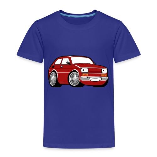 Red cartoon racing car toddler classic - Koszulka dziecięca Premium