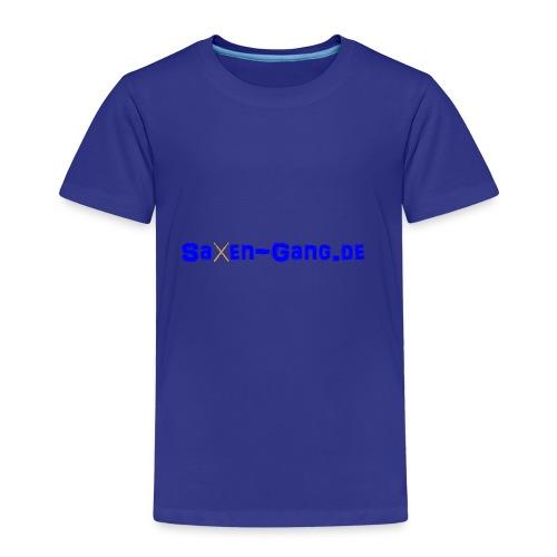 Saxen Leiste blau - Kinder Premium T-Shirt
