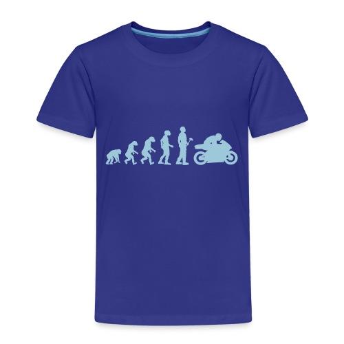 Evolutionstheorie Motorrad Rennmaschine - Kinder Premium T-Shirt