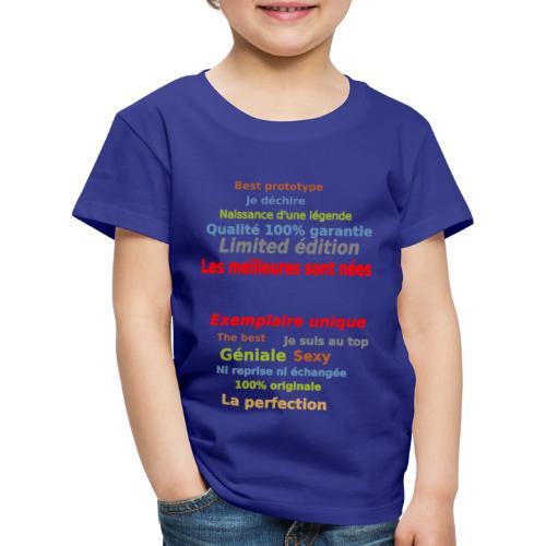 t shirt les meilleures sont nées sweat shirt mugs - T-shirt Premium Enfant