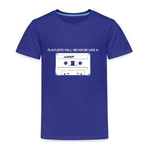 Playlists never like mixtape (dark background) - Kids' Premium T-Shirt