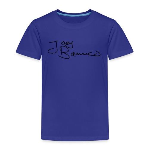 JoeyBamuco Black Signature - Lasten premium t-paita