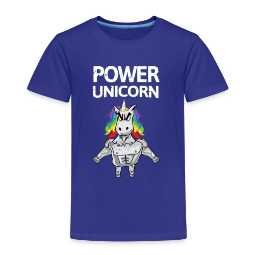 Power Unicorn - Einhorn Shirt - Kinder Premium T-Shirt