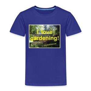 I love gardening - Garten - Kinder Premium T-Shirt