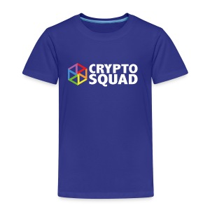 Crypto Squad Large Logo (white) - Kids' Premium T-Shirt
