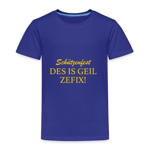 Schützenfest - DES IS GEIL ZEFIX! - Kinder Premium T-Shirt