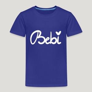 Süßes Bebi Design in weiß von victra-shirts - Kinder Premium T-Shirt