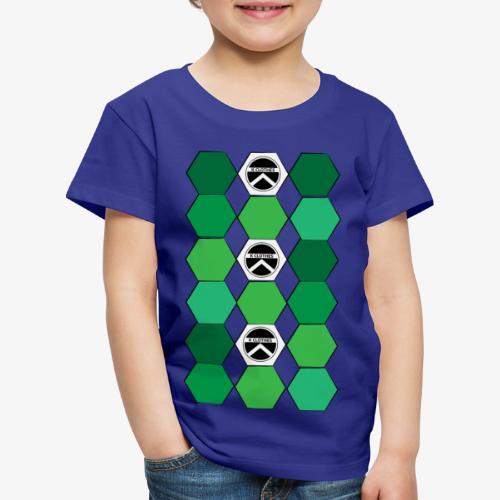  K·CLOTHES  HEXAGON ESSENCE GREENS & WHITE - Camiseta premium niño